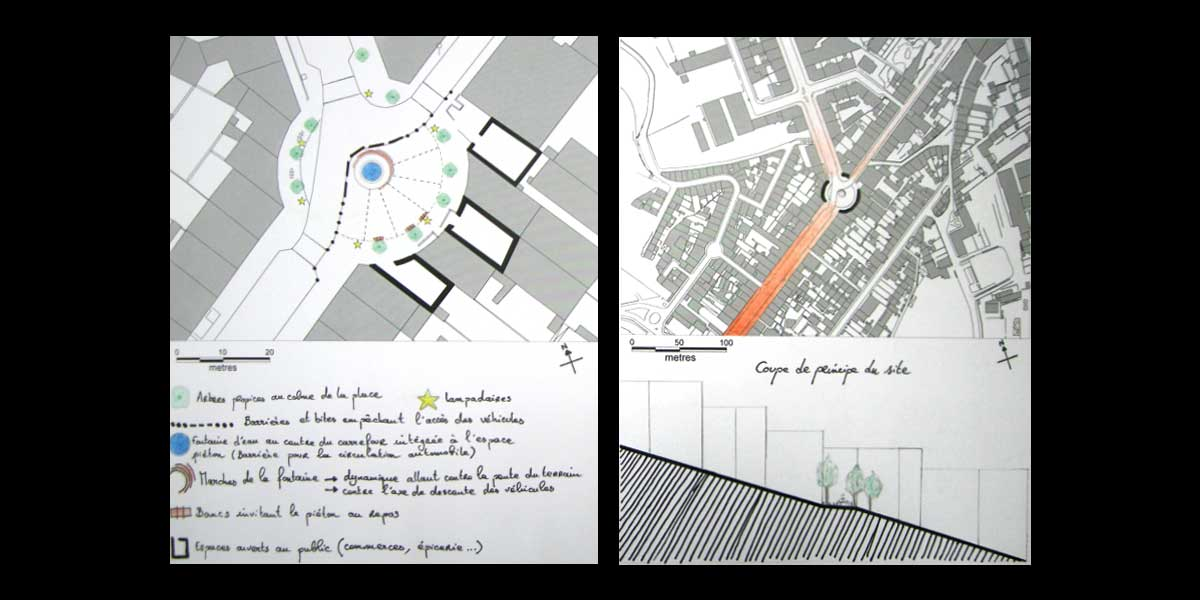 Confrontation de plans de la place Vauban